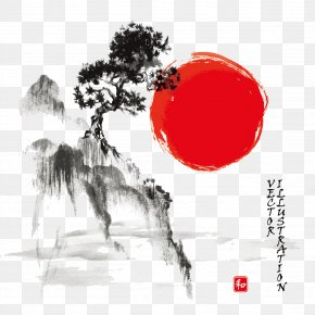 Japan Ink Landscape Paintings Image - Ink Wash Painting Drawing Japanese Art Watercolor Painting PNG