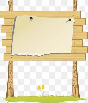 Cartoon Brand - Wood Billboard Clip Art PNG
