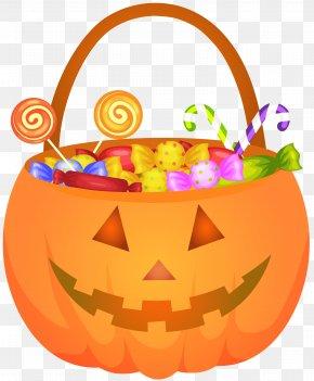 Halloween Pumpkin Basket PNG Clip Art Image - Calabaza Jack-o'-lantern Halloween Clip Art PNG