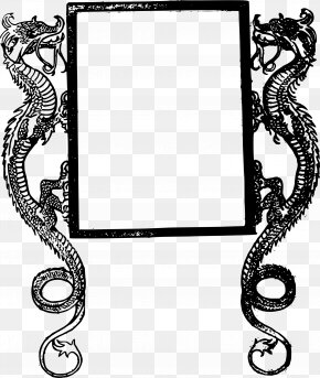 Chinese Frame - Picture Frames Dragon Decorative Arts Clip Art PNG