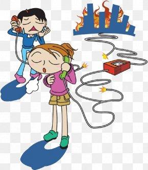 Alarm The Child - Comics Cartoon Illustration PNG