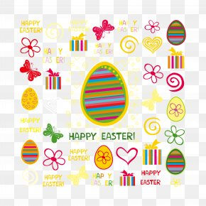 Easter Eggs With Ribbons - Easter Egg Clip Art PNG