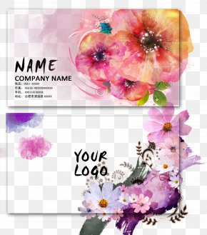 Flower Business Card Design - Business Card Visiting Card Flower PNG