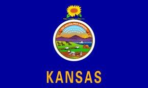 Flag Outline - Flag Of Kansas State Flag Flag Of The United States PNG