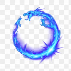 Blue Dragon - Flame Fire Combustion PNG