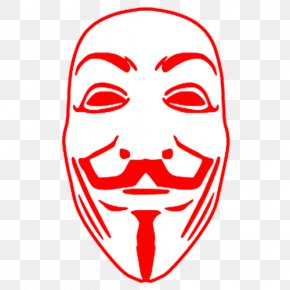 Hacker Clipart - V For Vendetta Guy Fawkes Mask T-shirt YouTube PNG