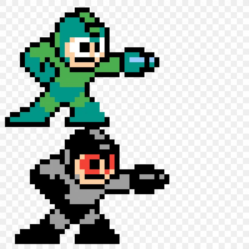 Sprite Pixel Art Video Games Minecraft Mega Man 2 Png