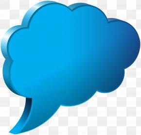 Speech Bubble Cloud Blue Transparent Image - Speech Balloon Wallpaper PNG