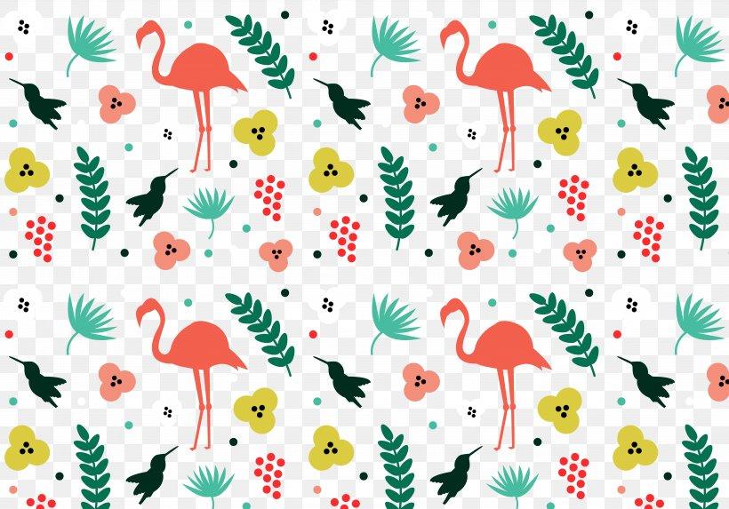 Tropics Pattern, PNG, 5833x4083px, Watercolor, Cartoon, Flower, Frame, Heart Download Free