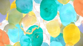 Watercolor Polka Dot Shading - Watercolor Painting Polka Dot Pattern PNG