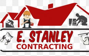 Roofing Services | Siding Contractor | Roofing Installation Contractor Logo Organization BrandContracting - E. Stanley Contracting PNG