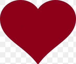 Burgundy - Free Love Heart Clip Art PNG