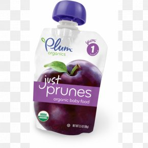 Plum - Baby Food Organic Food Breakfast Cereal Prune PNG