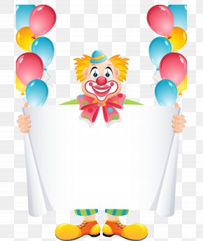 Creative Clown - Balloon Clown Birthday Clip Art PNG
