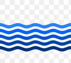 Water Wave - Electric Blue Aqua Teal Cobalt Blue PNG