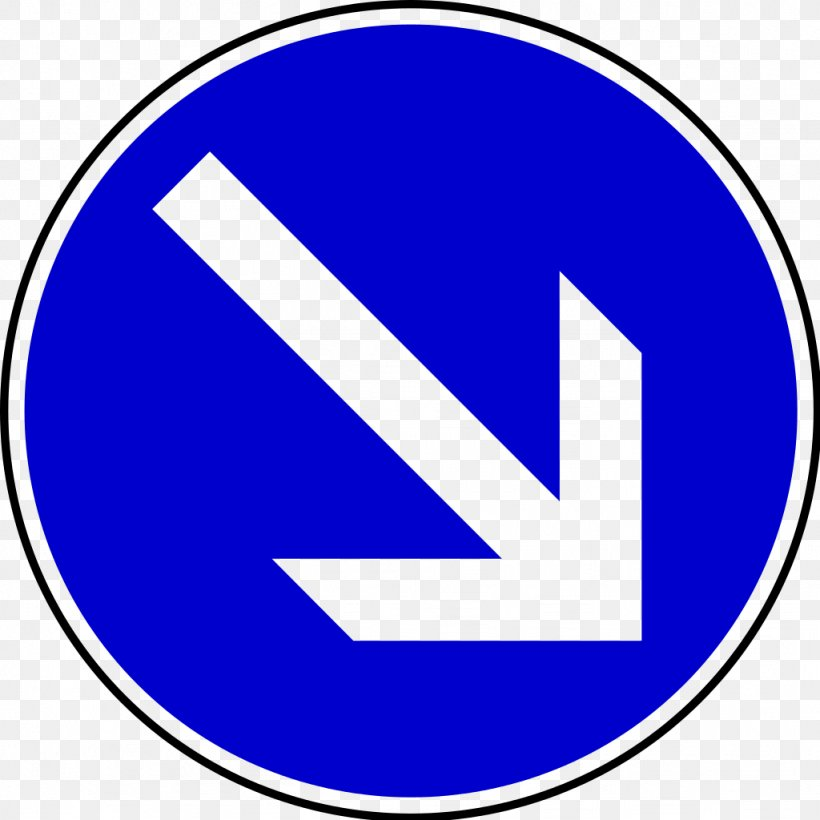 Traffic Sign Arrow Direction, Position, Or Indication Sign Road, PNG, 1024x1024px, Traffic Sign, Area, Blue, Brand, Logo Download Free