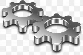 Gears - Metal Steel Clip Art PNG