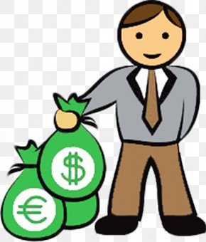 Hand Carry Money Bag Cartoon Man - Money Bag Stock Photography Clip Art PNG