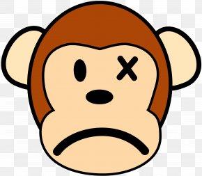 Sadness Cliparts - Ape The Evil Monkey Clip Art PNG