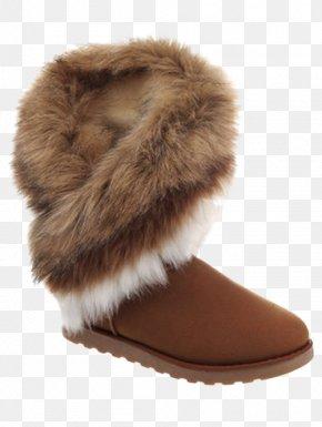Fake Fur - Snow Boot Shoe Coat Fur PNG