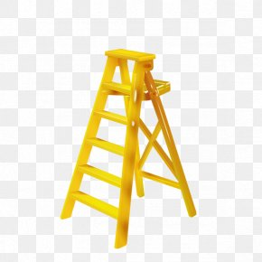 Yellow Ladder - Ladder Stairs Download PNG