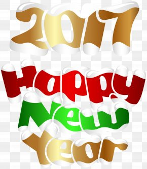 2017 Happy New Year Transparent PNG Clip Art Image - New Year's Day Christmas Day Clip Art PNG