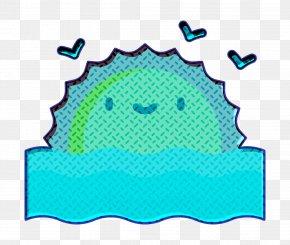 Turquoise Aqua - Sea Icon Tropical Icon Sunset Icon PNG