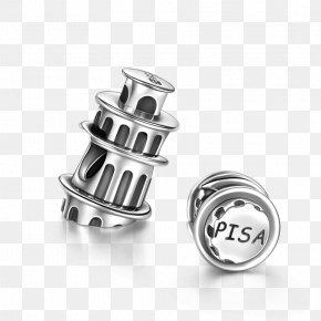 The Leaning Tower Of Pisa - Leaning Tower Of Pisa Earring Charm Bracelet Pandora Silver PNG