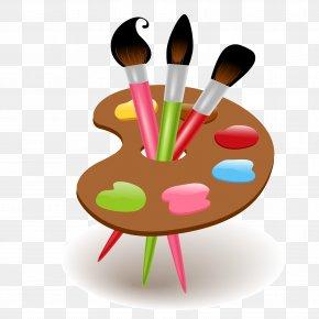 Vector Color Brushes - Cartoon Drawing School Supplies Clip Art PNG