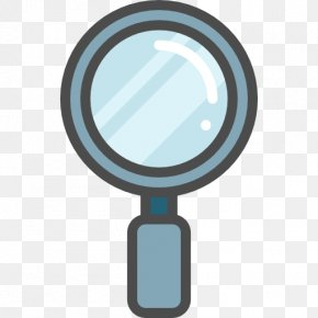 Blue Magnifying Glass - Magnifying Glass Icon PNG