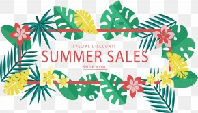 Tropical Leaves Discount Banners - Web Banner PNG