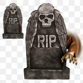 Broken Arm - Headstone Halloween Boogeyman Horror Animatronics PNG