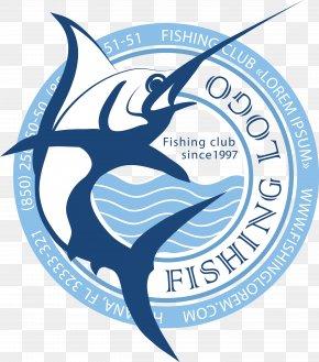 Ferocious Fish Logo Vector Material - Recreational Boat Fishing Atlantic Blue Marlin Logo Angling PNG