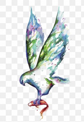 Vector Watercolor Eagle - Visual Arts Canvas Print Painting Gallery Wrap PNG