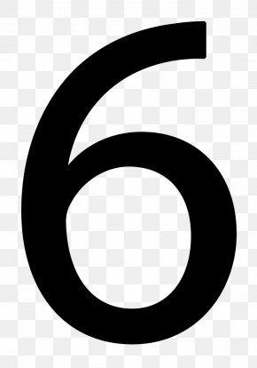 Number 6 - Black And White Circle Pattern PNG