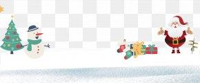 Santa Claus On The Snow - Christmas Ornament Santa Claus Christmas Tree Reindeer PNG