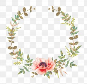 Watercolor Flower - Wedding Invitation Flower Convite Wreath Garland PNG