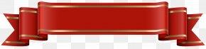 Banner Red Transparent Clip Art Image - Clip Art PNG