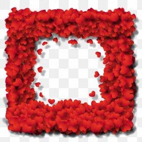Female Frame Template - Valentine's Day Heart Love Romance Feeling PNG