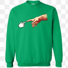 The Creation Of Adam - T-shirt Christmas Jumper Hoodie Sweater PNG