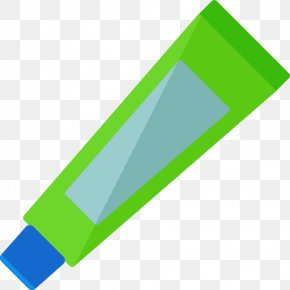 A Blue Toothpaste - Toothpaste Toothbrush Icon PNG