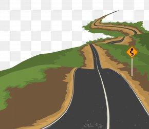Urban Road Vector Material - Road Euclidean Vector Illustration PNG