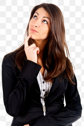 Thinking Woman - Display Resolution PNG