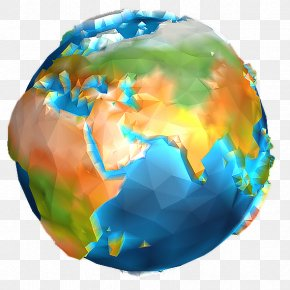 Low Poly - Earth Low Poly Android Rendering Geography PNG