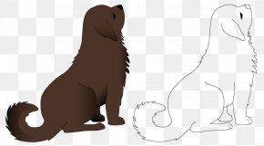 Dog Line Art - Puppy Dog Pet Sitting Line Art Illustration PNG