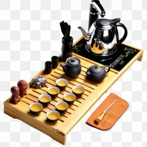 Tea Binglie Entire Household Electric Stove Wood Tea Tray Tea Table - Tea Table Tray Furnace Wood PNG
