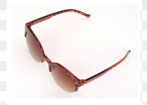Sunglasses - Goggles Sunglasses Brown Product Design PNG