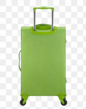 Simple Grass Green Suitcase - Hand Luggage Suitcase Baggage Trolley PNG