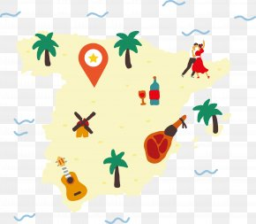 Island Attractions Location Vector - Spain Map Euclidean Vector Illustration PNG