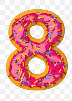 8 - Donuts Cream Glaze National Doughnut Day PNG